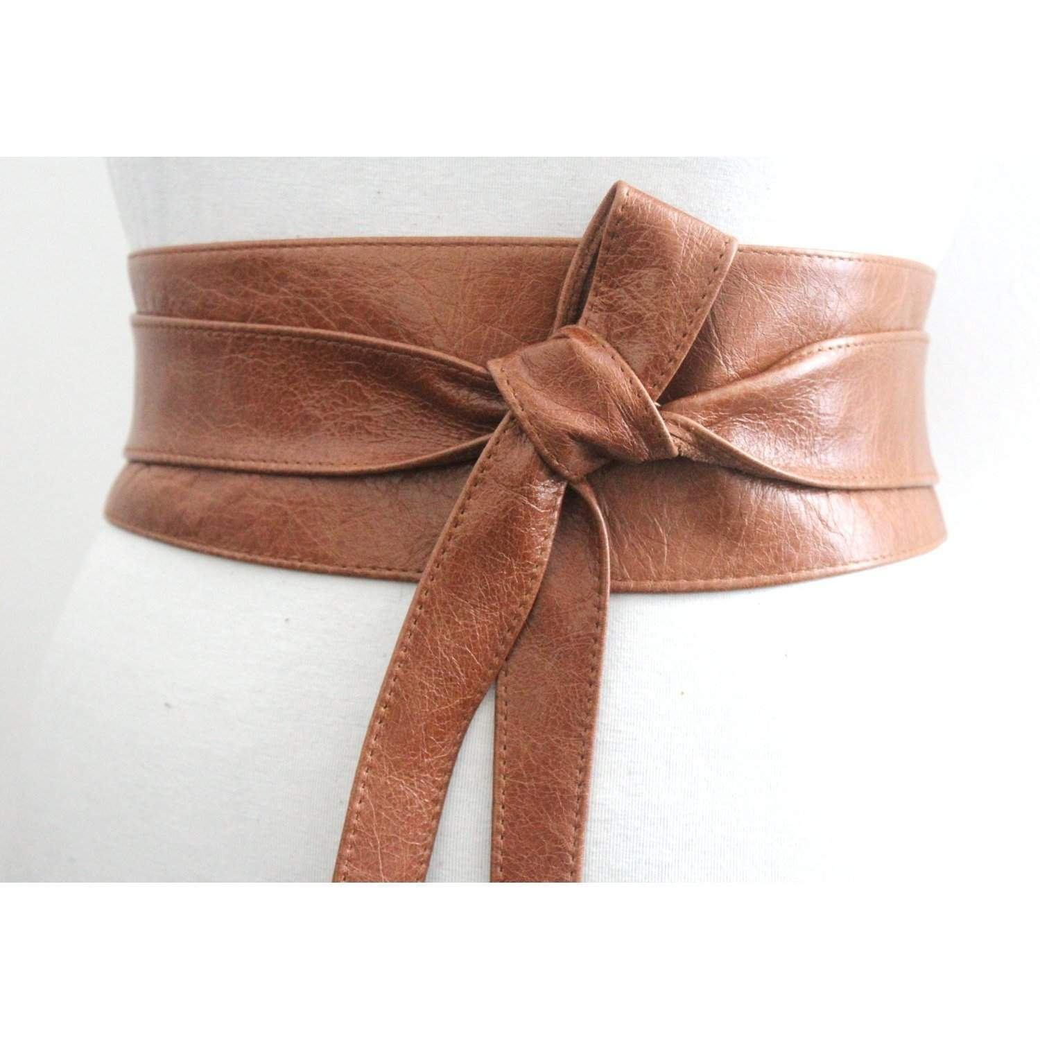Distressed Tan Brown Leather Obi Belt, Western Belt, Womens Leather Belt,  Bridesmaid Belt, Tan Belt - loveyaayaa