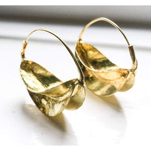 Gold Brass Earrings / Fulani Tribal Earrings - loveyaayaa