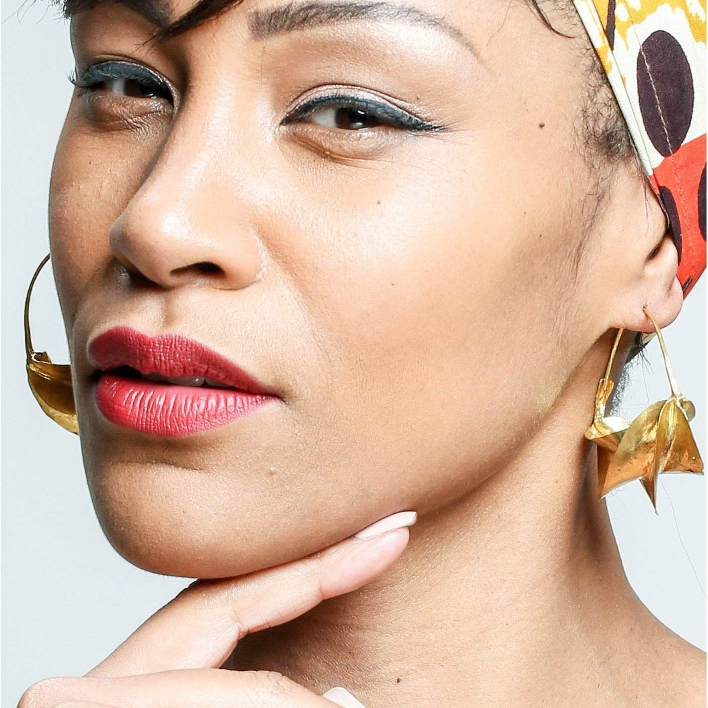 Gold Brass Fulani Tribal Earrings / Large Statement Earrings - loveyaayaa