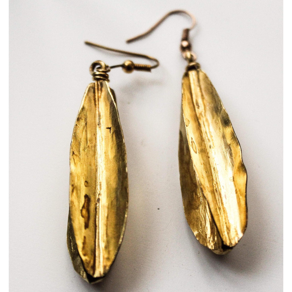 Gold Fulani Earrings / Fulani Tribal Earring - loveyaayaa