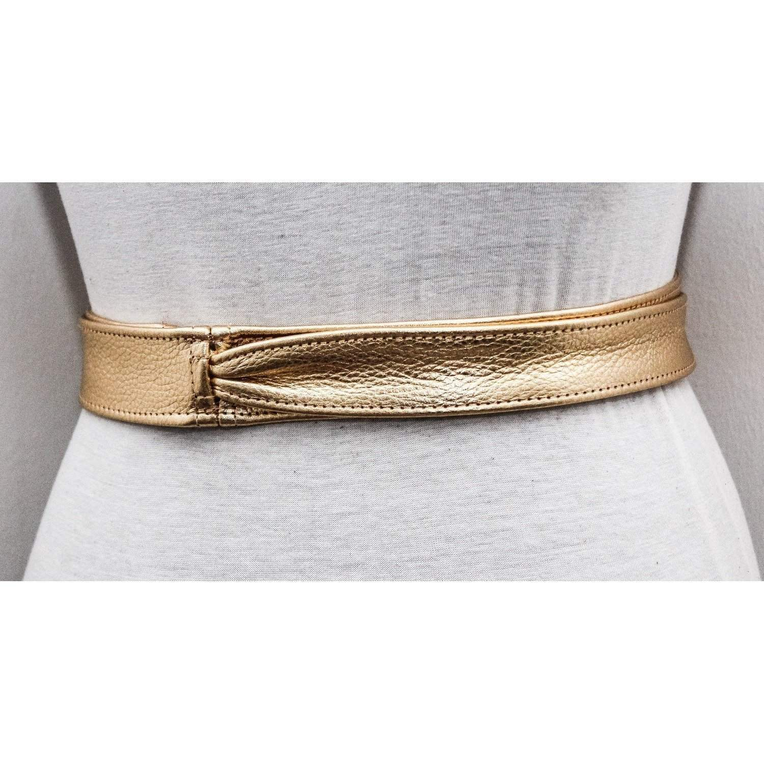 Gold Obi Belt | Leather Bridal Belt | Sash belt | Obi Belt | Plus Size accessory | Thin Gold Leather Belt| Bridesmaid Belt | Wrap Belt - loveyaayaa