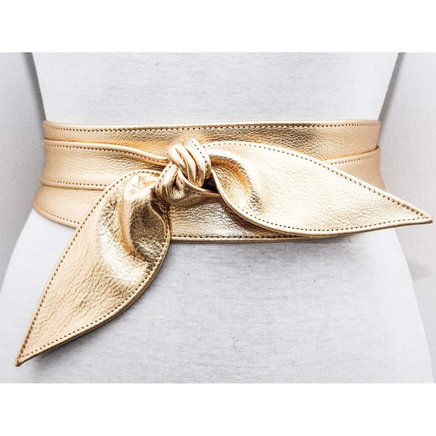 Gold Sash Obi Belt - loveyaayaa