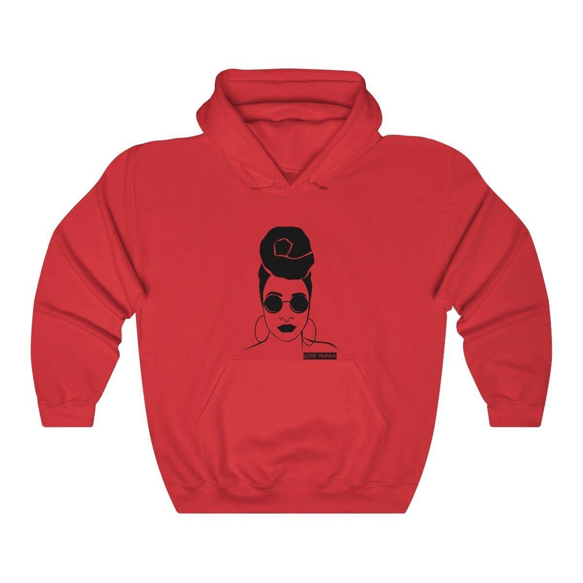 Headwrap Babe Unisex Hooded Sweatshirt - loveyaayaa
