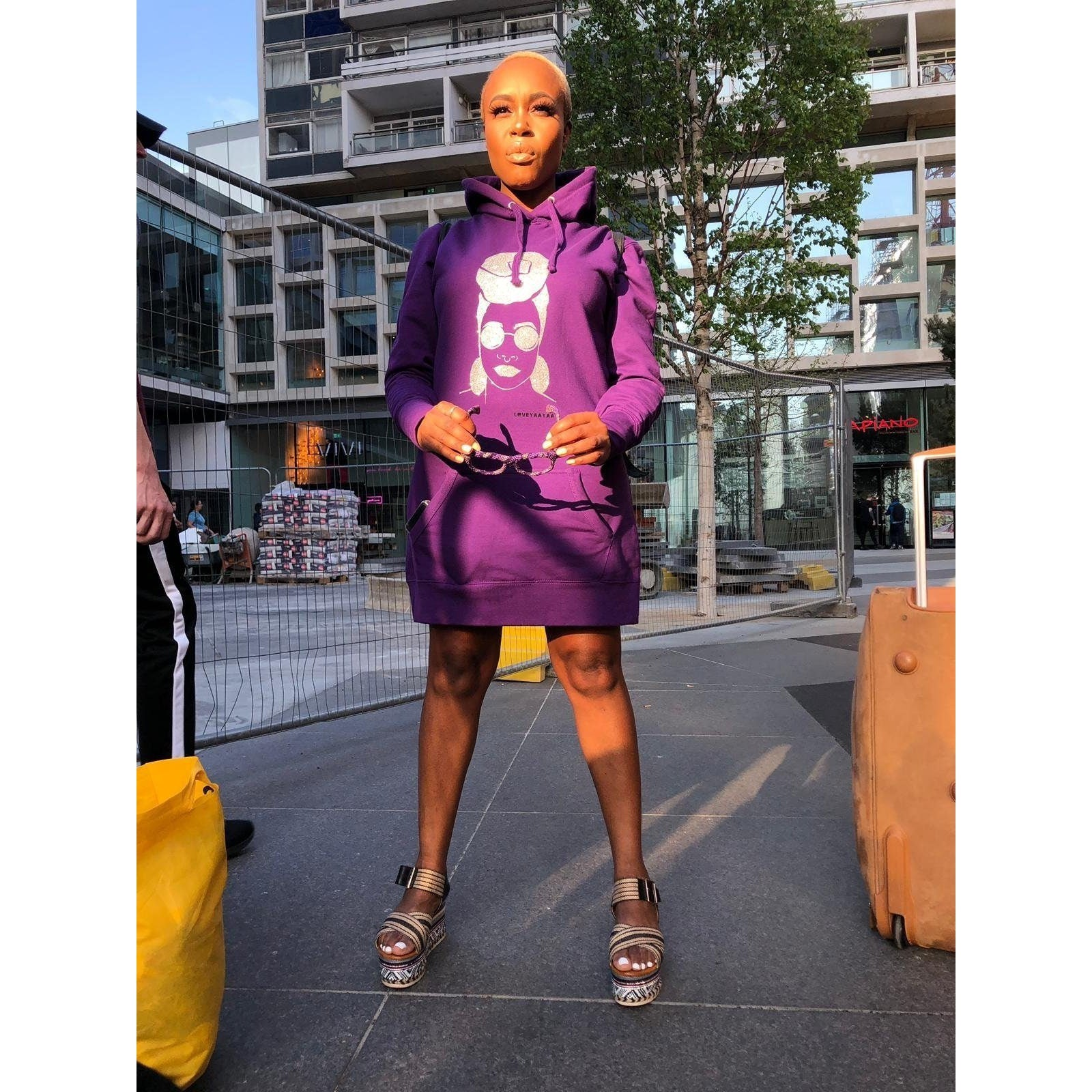 Headwrap hoodie Jumper dress - loveyaayaa
