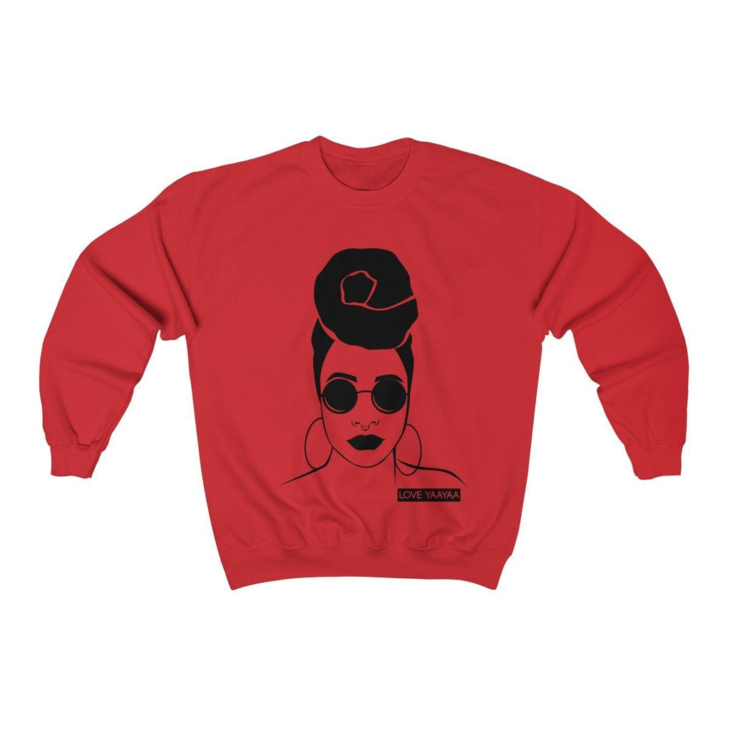 Headwrap Lady Unisex Heavy Blend™ Crewneck Sweatshirt - loveyaayaa