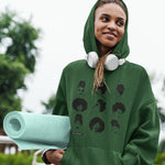 Green Hoodie Sweatshirt - Headwrapped Babe and The Sistas Print