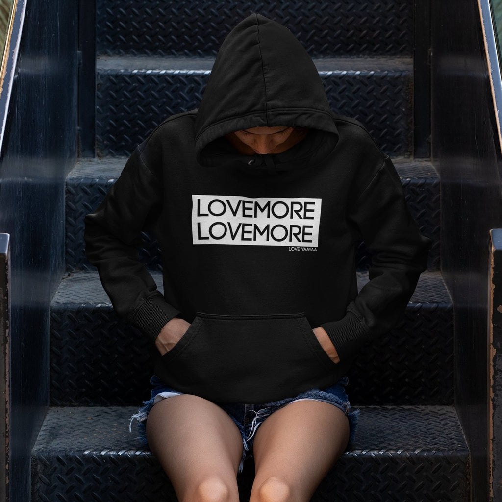 Black Hoodie Sweatshirt - Headwrap Babe and Lovemore Print