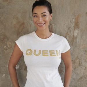 Queen 'yes you are T shirt - Glitter Print