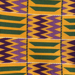 Purple Kente Wax Print Headwrap