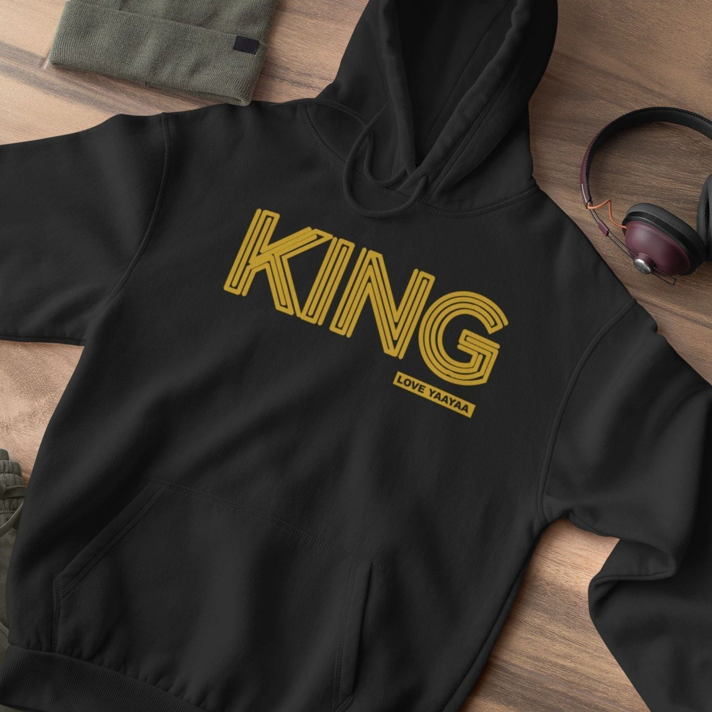 King 'Yes you are' Heavy Blend™ Hooded Sweatshirt - loveyaayaa