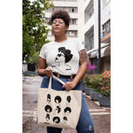 Cotton Shoulder Tote Bag - Roomy