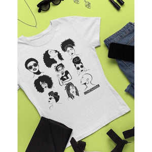 MYSTERY BOX 2 for price of 1 - White T shirt various print  - ladies fit - loveyaayaa