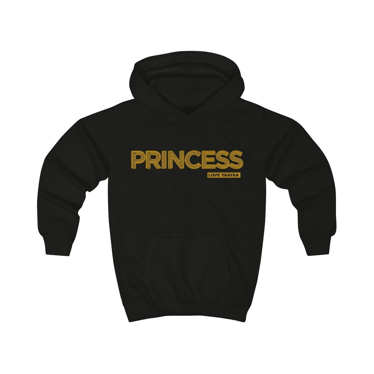 Princess Childrens Hoodie - sizes 1 to 14 years old - loveyaayaa