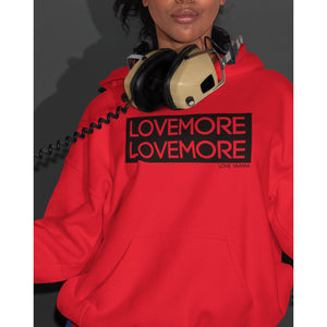 Red Hoodie Sweatshirt - Headwrap Babe and Lovemore Print