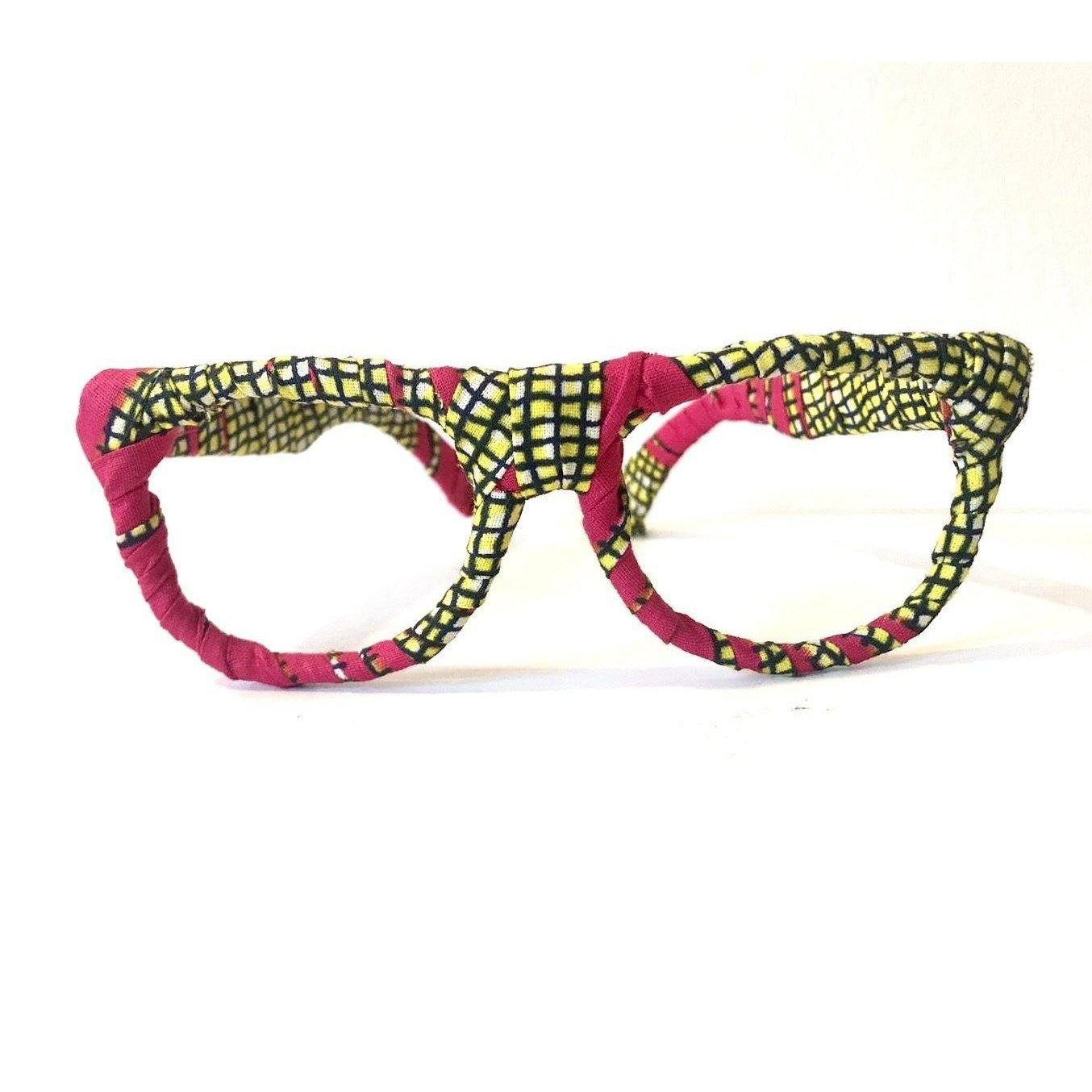 Red and Gold African print Ankara sunglasses frames - loveyaayaa