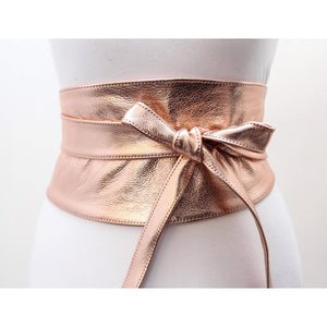 Rose Gold Corset Belt |  Sash Belt - loveyaayaa