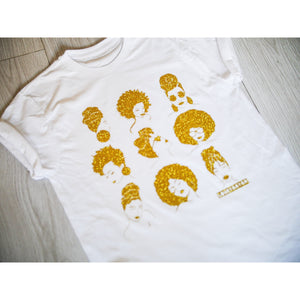 SISTERHOOD T shirt - Glitter Print - loveyaayaa
