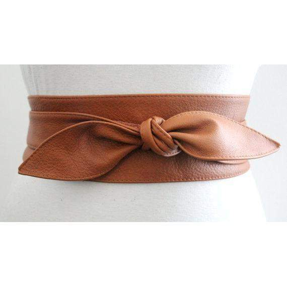 Tan Brown Leather Obi Belt | Obi Belt | Corset belt | Plus size belts | Sash Belt | Bridal Belt | Leather Corset Belt | Brown Leather Belt - loveyaayaa