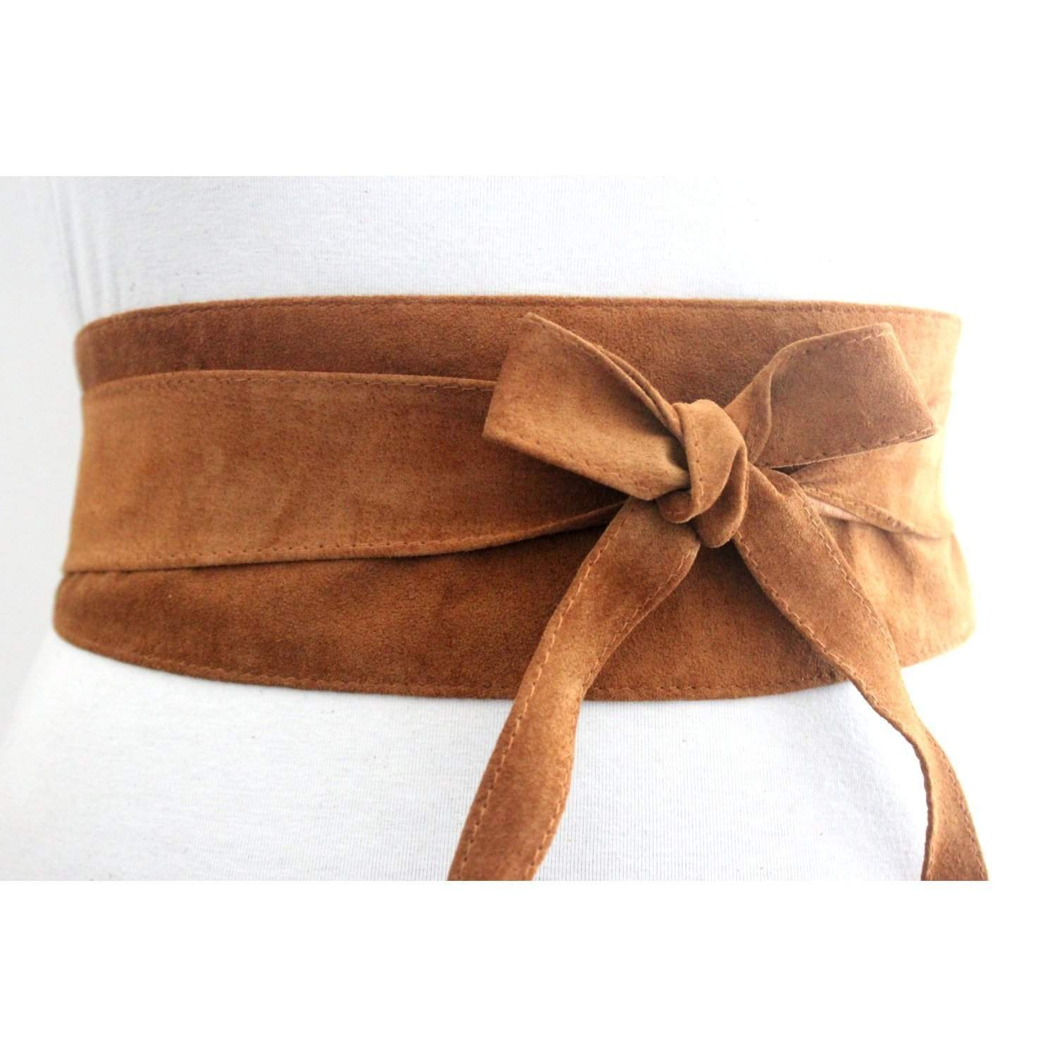 Tan Obi Belt | Tan Suede Obi Belt - loveyaayaa