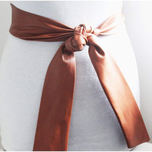 Tan Soft Leather Coat Tie Belt | Leather Narrow Belt | Leather Replacement belt | Narrow Nappa Leather Belt - loveyaayaa