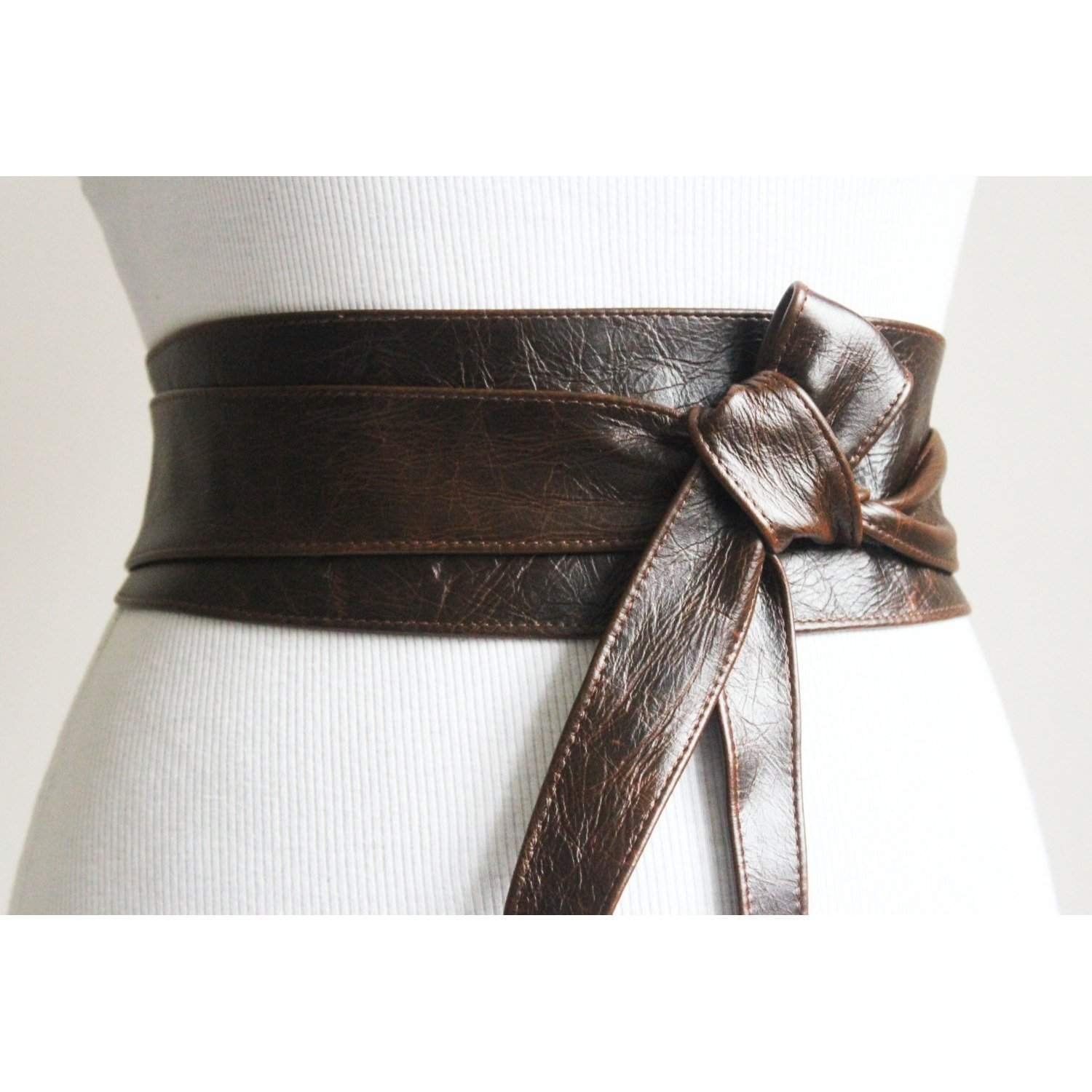 Vintage Dark Brown Obi Belt - loveyaayaa