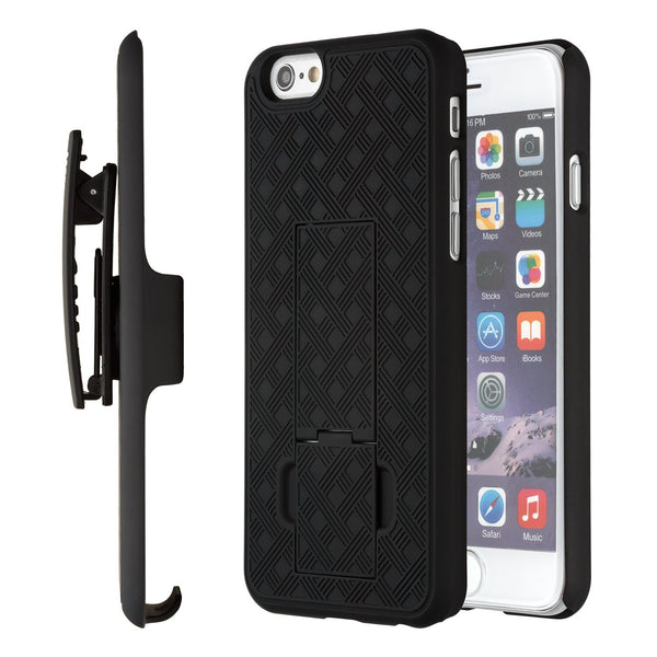 detailed look 56a9c 4f70c iPhone 6S Case, Moona® Shell Holster Combo Case for Apple iPhone 6S / 6 4.7  with KickStand & Belt Clip