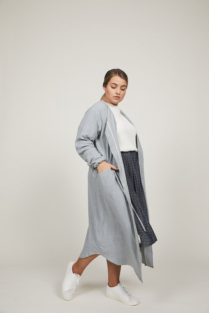 Sea Mist Serena Trench - SOLIKA