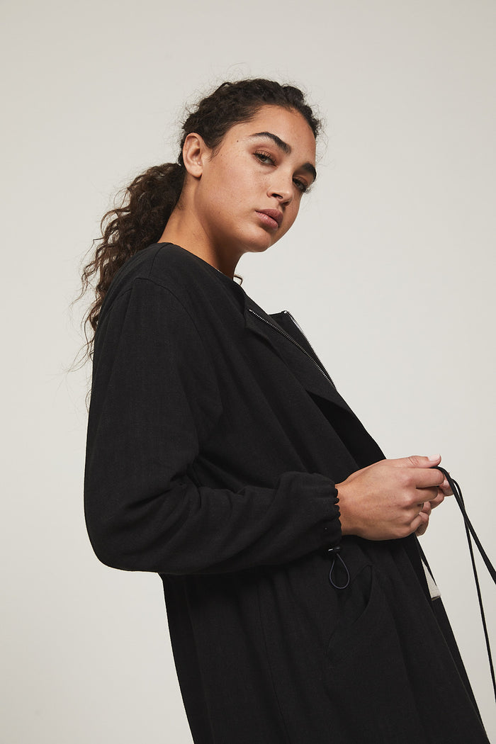 Black Serena Trench