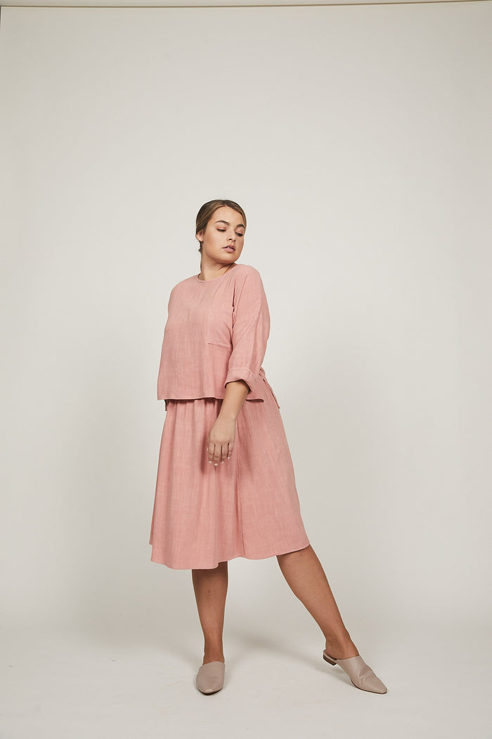 Deep Rose Sofia Skirt - SOLIKA