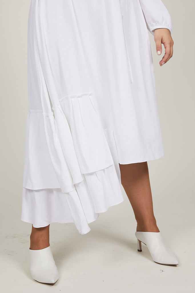 White Dahlia Dress - SOLIKA