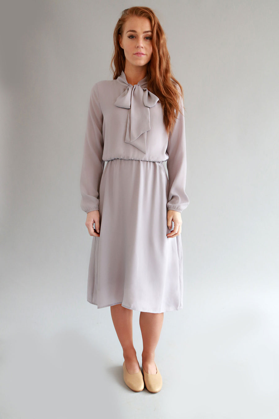 LILAC GREY SOL DRESS - SOLIKA