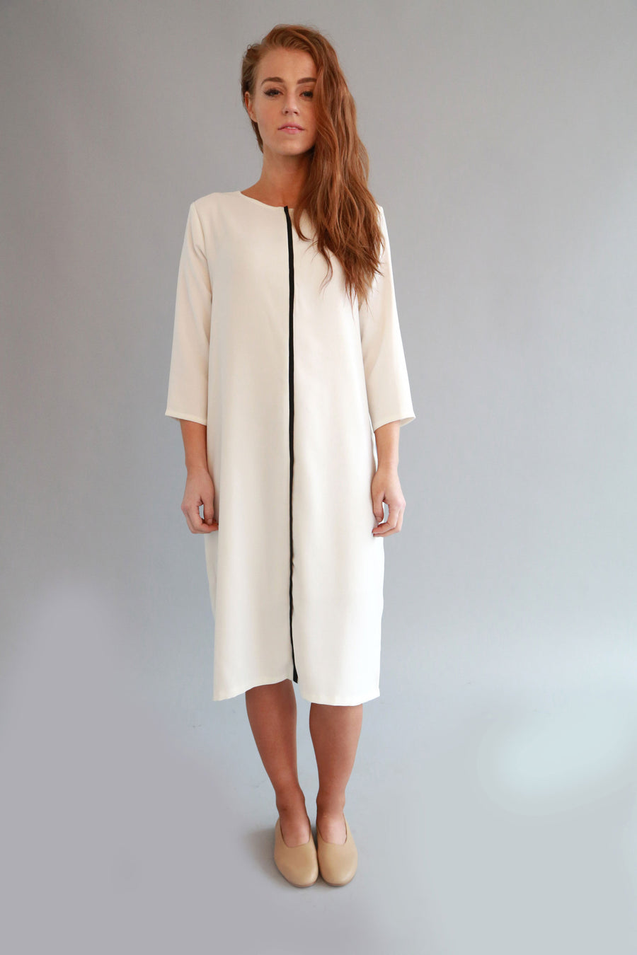 WHITE LEIA DRESS - SOLIKA