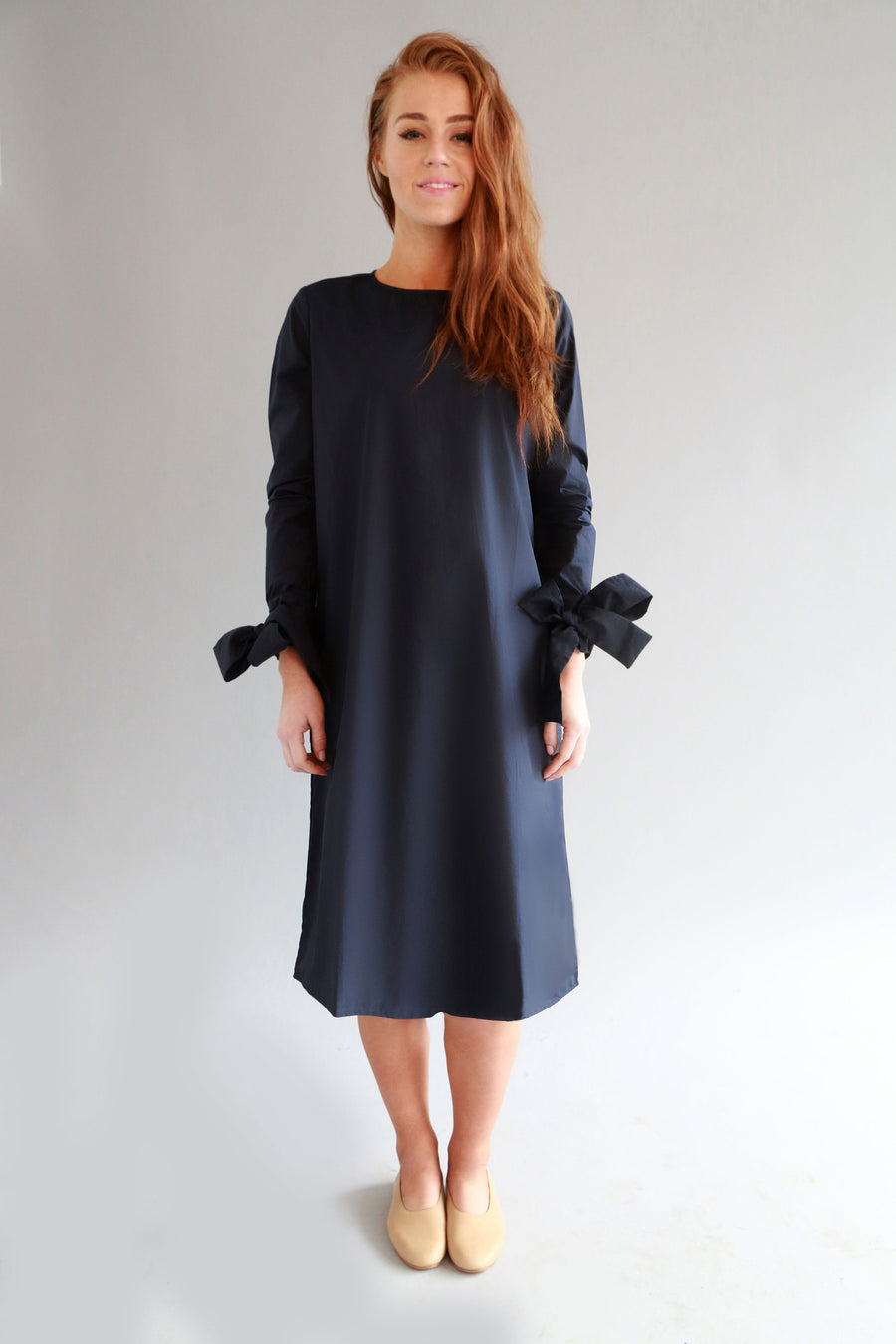 NAVY SARA DRESS - SOLIKA