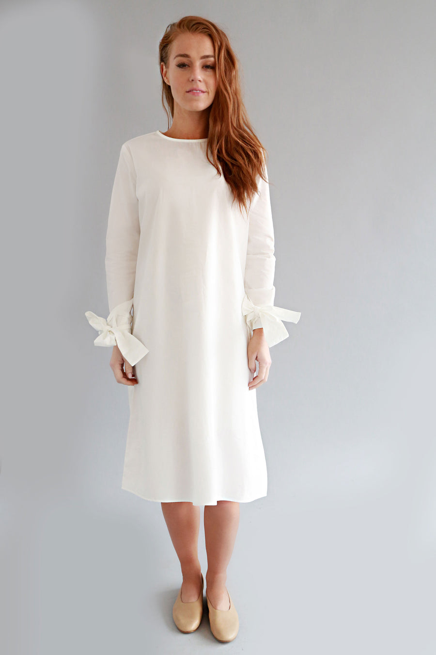 WHITE SARA DRESS - SOLIKA