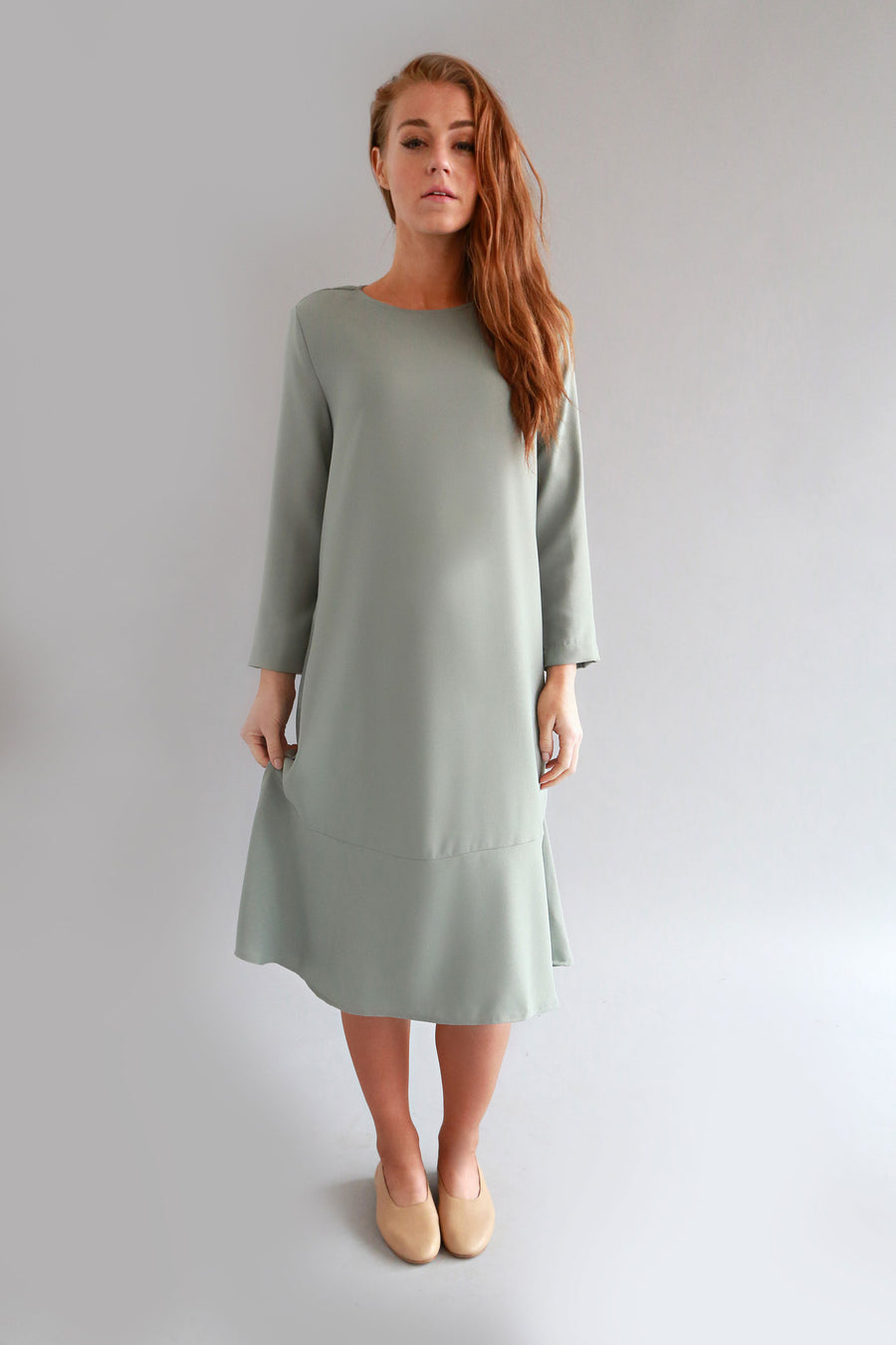 SEA FOAM MILKA DRESS - SOLIKA