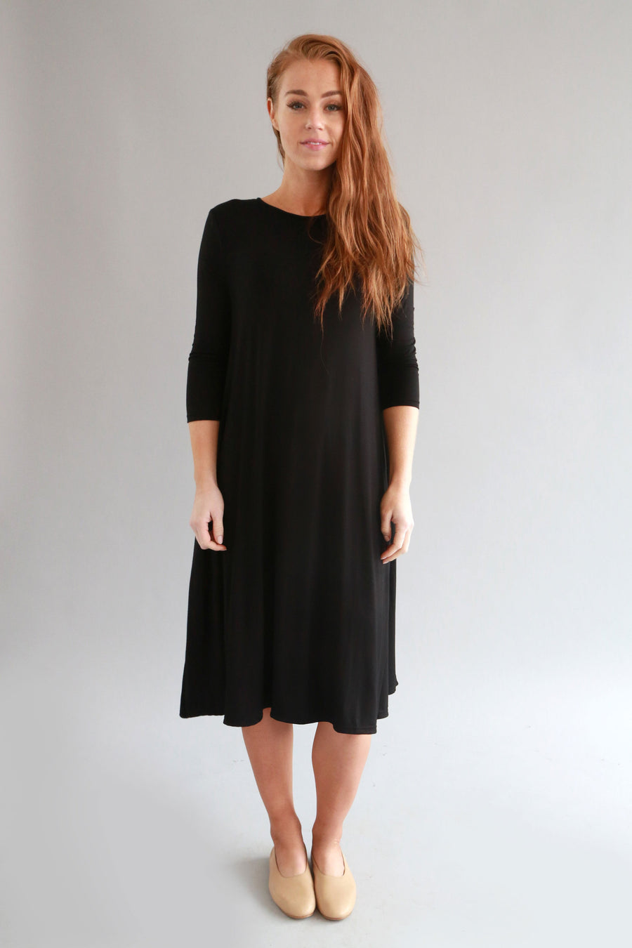 BLACK BASIC DRESS - SOLIKA