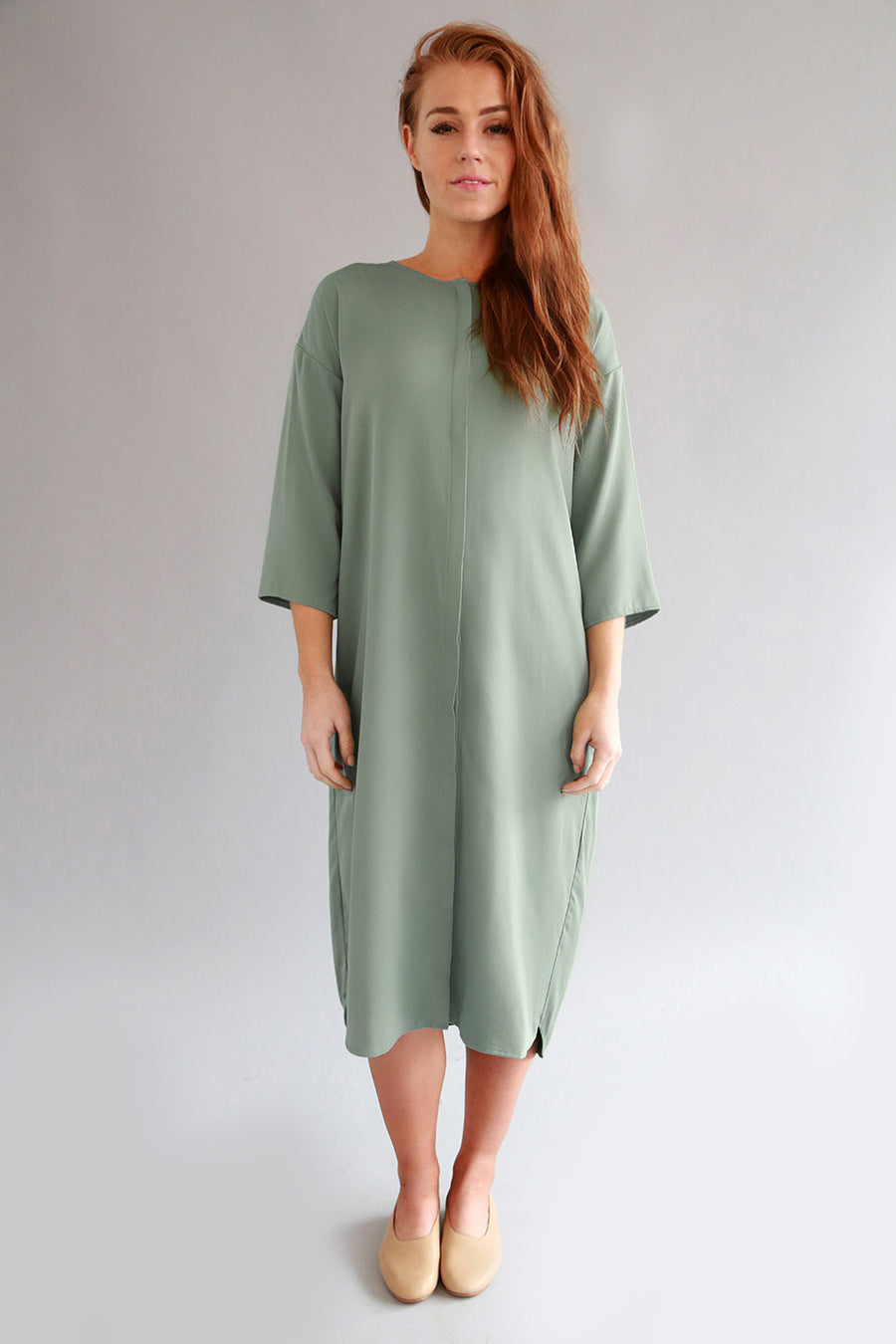 SEA FOAM MAIA DRESS - SOLIKA