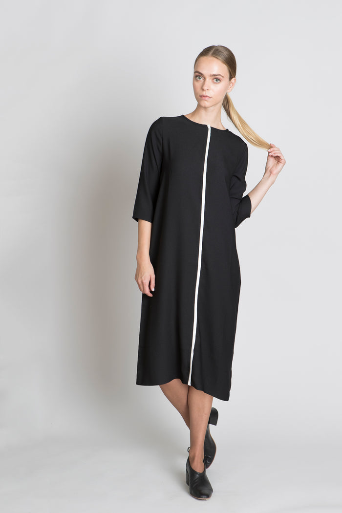 BLACK LEIA DRESS - SOLIKA