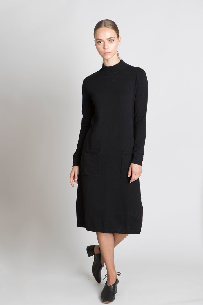 BLACK SALMA DRESS - SOLIKA