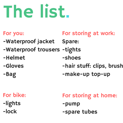 cycling commuter kit list