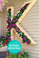 DIY Monogram Letter Planter Box Woodworking Plans and Building Instructions