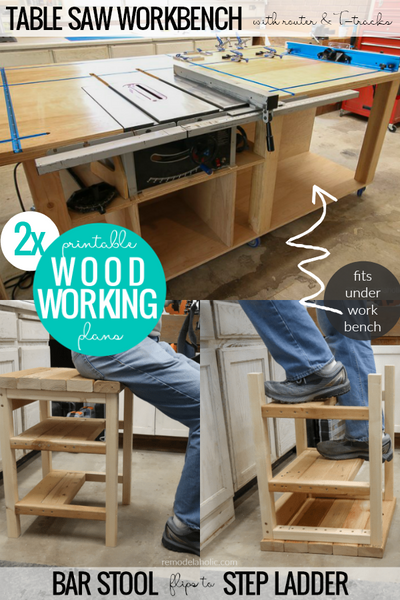 Table Saw Workbench + Bar Stool BUNDLE