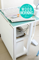 DIY Folding Craft Table (Foldable Desk) Woodworking Plans