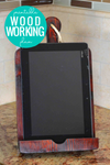 Easy DIY iPad Stand Tablet Holder Woodworking Plan & Template