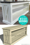 DIY Farmhouse TV Console Table Woodworking Plan