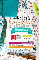 custom fillable last day of school infographic poster printable