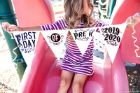 first day of school pennant flag sign for photos