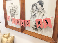 Red Dot Letter Bunting - Full Alphabet | Printable Party Decoration