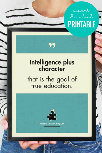 True Education MLK Jr Quote | Wall Art Printable