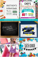 printable first and last day of school signs for photos